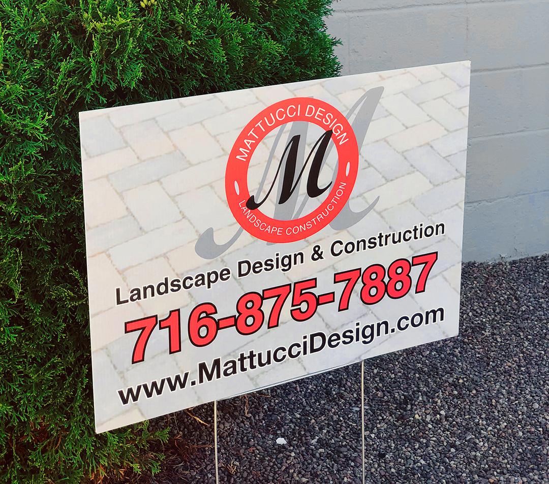 Mattucci Landscape Lawn Sign
