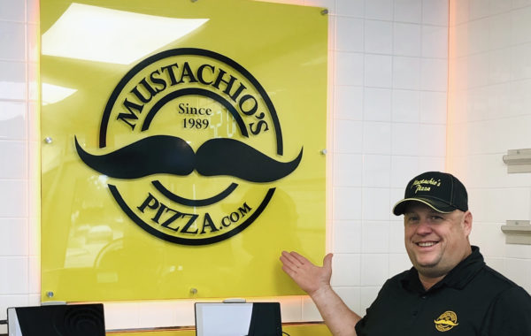 Mustachio's Pizzeria LED Sign