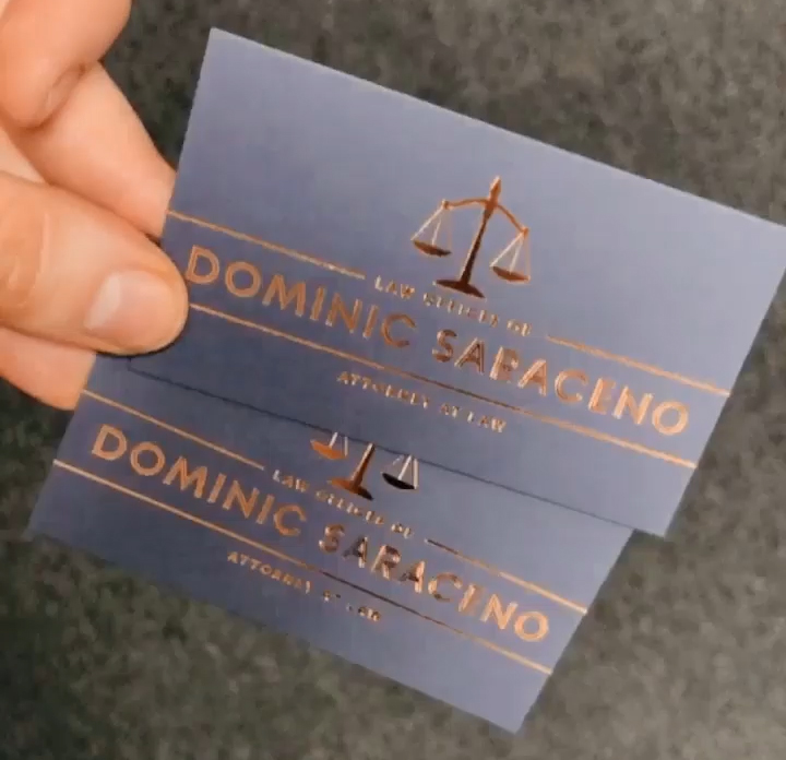 Dominic Saraceno Business Cards