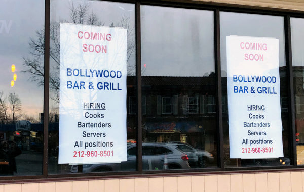 Bollywood Bar & Grill Sign