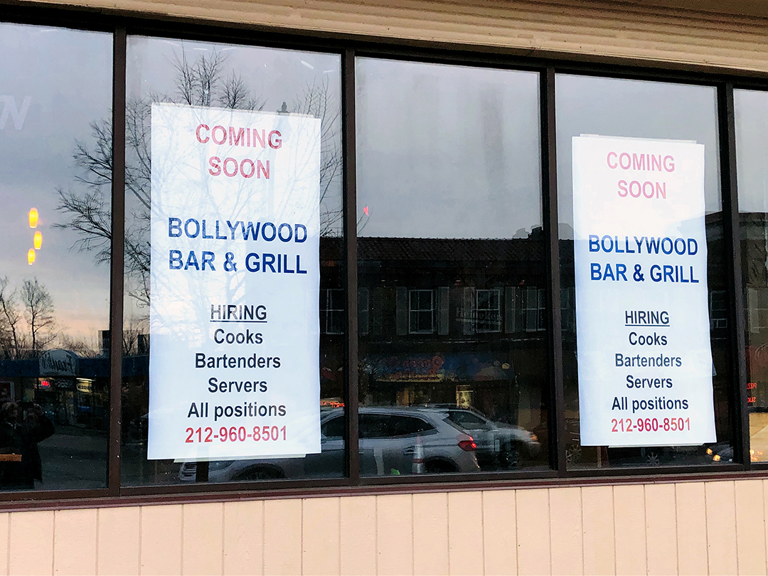 Bollywood Bar & Grill Sign