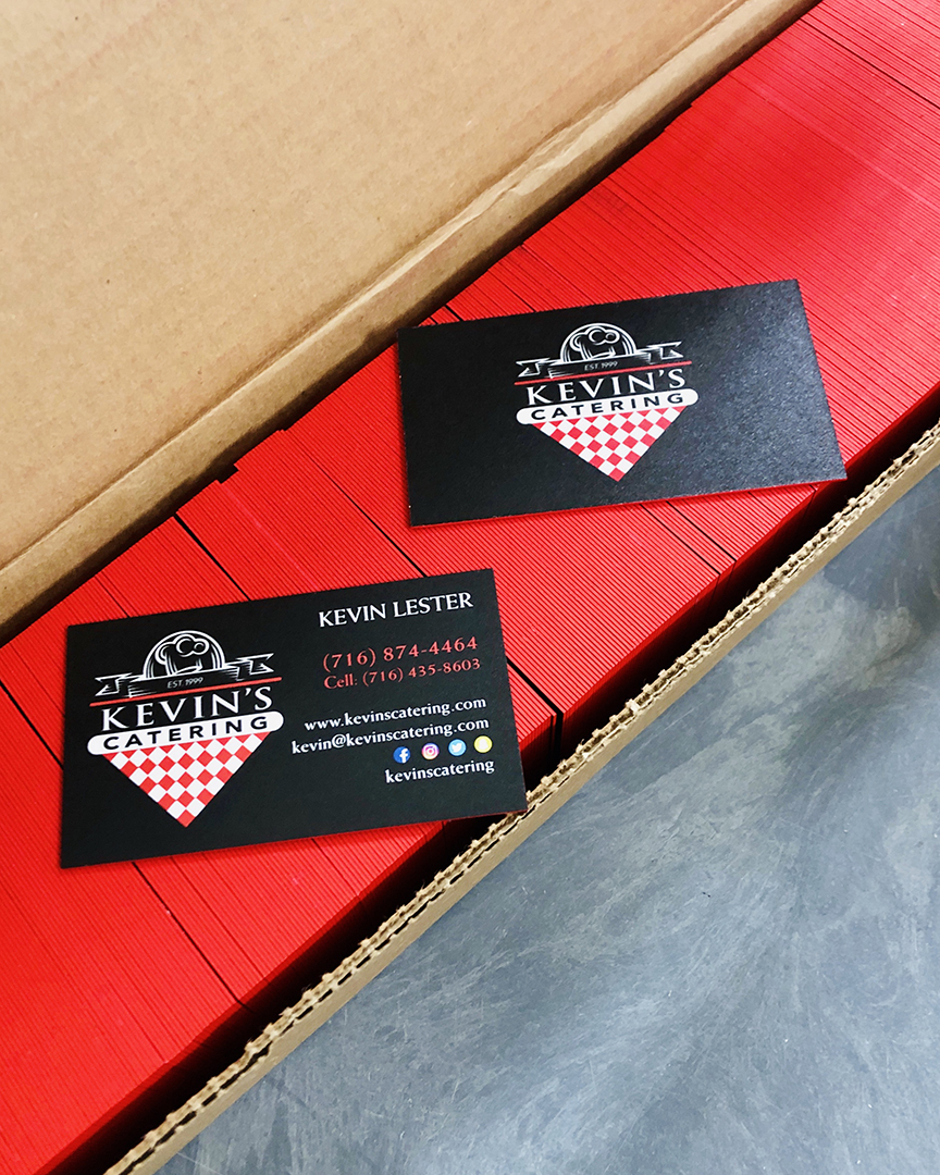 Kevin's Catering Business Cards