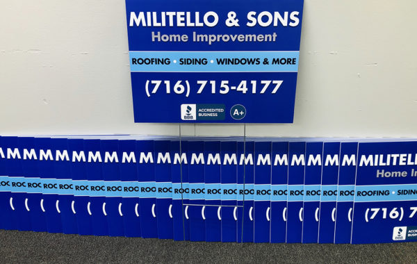 Militello & Sons Home Improvement Lawn Signs