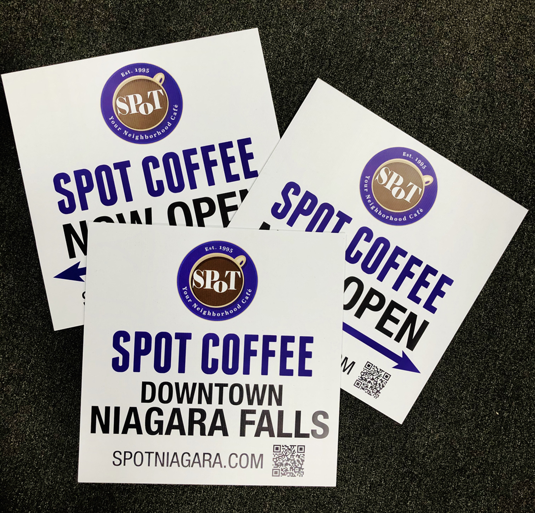 Spot Coffee Lawn Signs