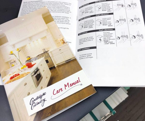 Candlelight Cabinetry Care Manual