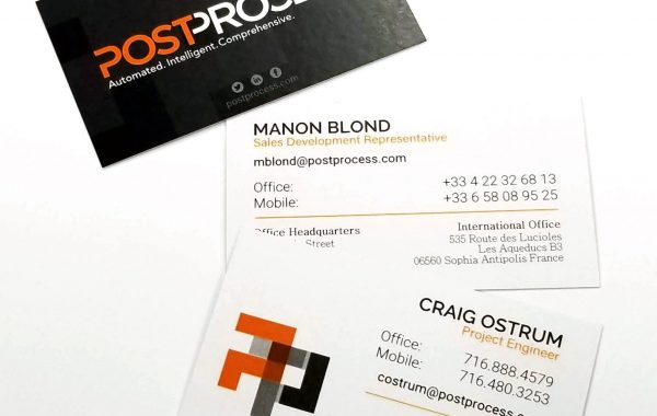 PostProcess Business Cards