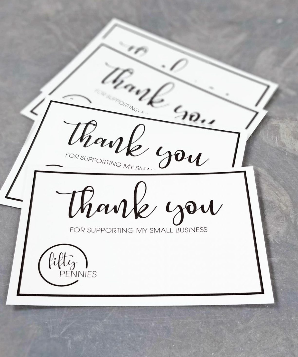 Fifty Pennies Thank You Card